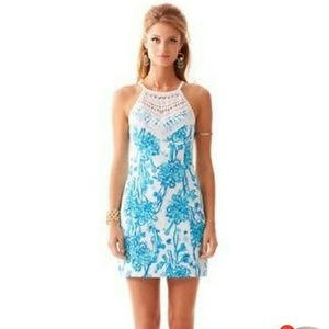 """Lilly Pulitzer """"Back it Up"""" Pearl Lace Shift"""